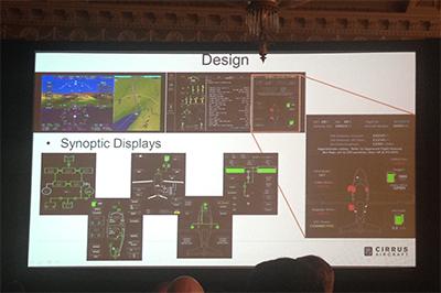 Vision SF50に搭載されるガーミンG3000のディスプレイ・イメージ
