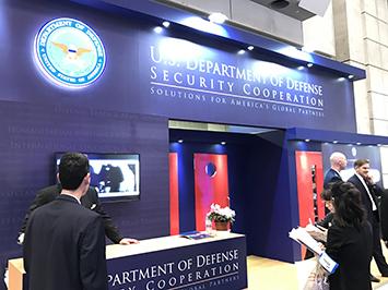 国際航空宇宙展 アメリカ国防総省ブース