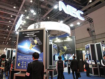 国際航空宇宙展 NECブース
