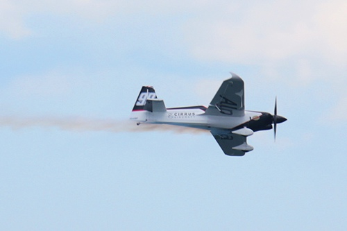 シーラス社のロゴが描かれたグーリアン選手の機体