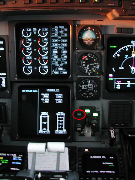 Gulfstream IVでの表示例