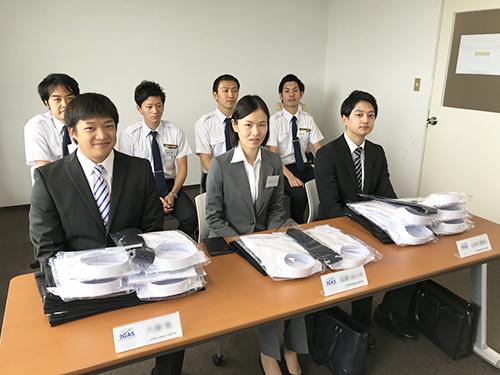 民間航空操縦士訓練学校 第3期生 入校式