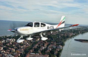 エミレーツ航空 自社養成課程のシーラスSR22