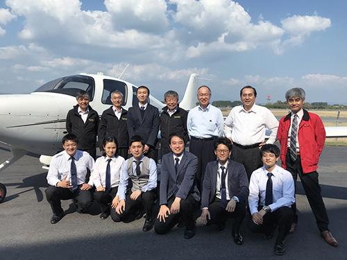 民間航空操縦士訓練学校 卒業式